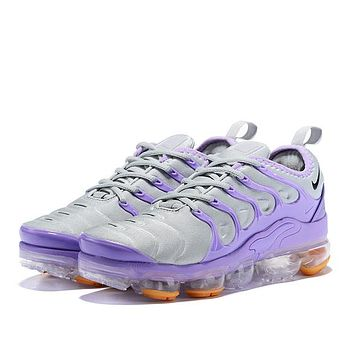 NIKE TN Fashion New Air Cushion Sports Leisure Running Shoes Women Gray Purple