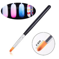 Nail Art Gradient Color Round Brush Pen Acrylic UV Gel Polish 3D Tips Effect Design Tools DIY Painting Drawing Manicure Pedicure