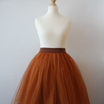 Cinnamon cupcake - ladies tulle skirt / adult tutu skirt