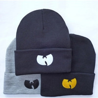 New Winter WU TANG CLAN Beanie Hats For Women Men Unisex Acrylic Black Knitted Caps Gorro Tocas 1MZ0507
