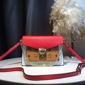 MCM  Women Leather Shoulder Bag Shopping Satchel LV Tote Bag Handbag