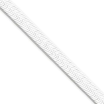 5.25mm, Sterling Silver Solid Herringbone Chain Necklace, 16 Inch