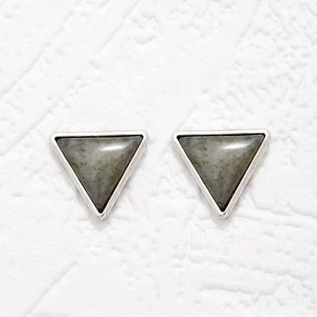 Triangle Faux Stone Studs | Forever 21 - 1000180274
