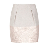 Structured tulip skirt - Silver | Skirts | Ted Baker UK