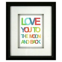 Framed Graphic - Love You 12x14