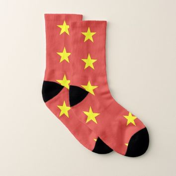 All Over Print Socks with Flag of Vietnam