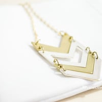 Chevron Necklace Gold Chevron Necklace Silver Chevron Necklace Two Tone Chevron Necklace Chevron Jewelry Tribal Necklace Simple Chevron