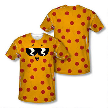 Uncle Grandpa Pizza Steve Face Adult Sublimation Allover Print T-Shirt |