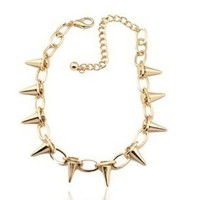 Gold Spiked Necklace  from embri