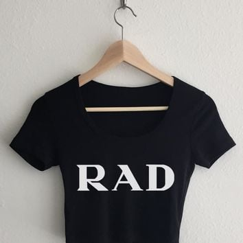 RAD Typography Crop Top