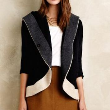 Rosie Neira Colorblock Boiled Wool Jacket