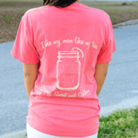 RESTOCK: Southern Grace Sweet Tea Shirt: Watermelon | Hope's