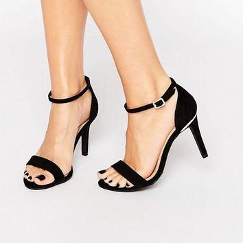 New Look Wide Fit Barely There Heeled Sandal at asos.com