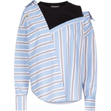 Maje Undone Striped Shirt | Harrods.com