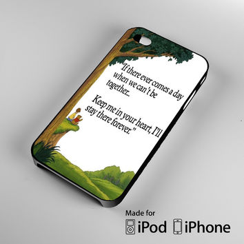 winnie the pooh love quote iPhone 4S 5S 5C 6 6Plus, iPod 4 5, LG G2 G3, Sony Z2 Case