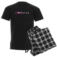 I heart Patch Men's Dark Pajamas on CafePress.com