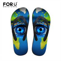 2017 Summer Beach Massage Flip Flops Shoes Men Rubber Slipper Large Eye Pupils Sandals Indoor & Leisure Flip-flops Free Shipping