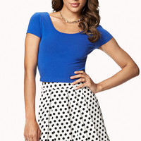 A-Line Polka Dot Skirt
