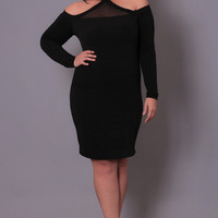 Plus Size Vixen Bandage Dress - Black