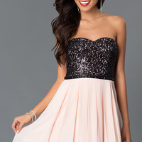 Short Strapless Homecoming Dress 2100ms1p