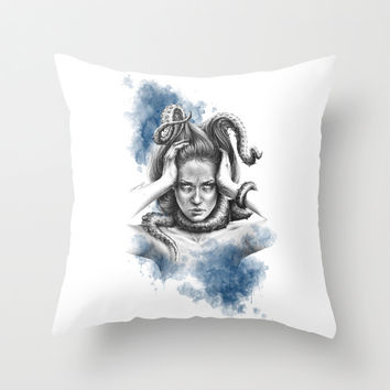 Nothing kills me like my mind Throw Pillow by EDrawings38