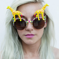 Dotty Giraffe Rave Rims (Yellow)