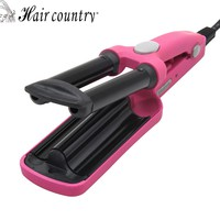 Hair Country Mini 3 Barrels Hair Curler Magic Ceramic Curling Irons Roller Hair Iron Styler Hairstyle Tools 110-240V