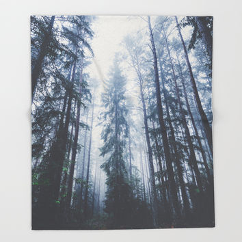 The mighty pines Throw Blanket by happymelvin