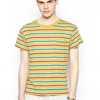 RVCA X Alex Knos T-Shirt With Sunny Side - Yellow