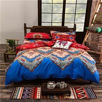 Full/Queen/King Size Bedding Sets Bohemian Style Reversible 4pcs Duvet Cover Sets Pillowcases Boho Comforter Covers 3pcs