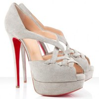 Christian Louboutin Lady Corset 150mm Suede Pumps Tutu Red Heels