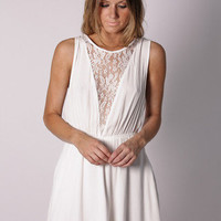 Esther Boutique - balmain chiffon dress- white