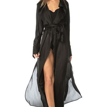 Penelope Duster Dress- Black
