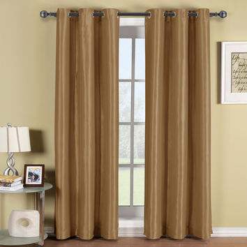 Soho Mushroom Grommet Blackout Window Curtain Panel