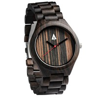 All Wood Watch // All Ebony 37 Red