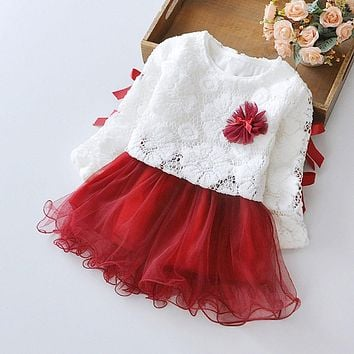 Autumn Infant Baby Kids Girls Party Lace Tutu Princess Dress Clothes Outfits