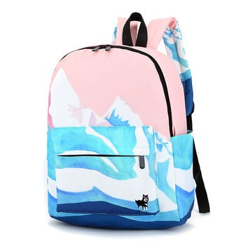 Large Sweet Canvas Tie Dye Emboridered Backpack