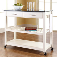 Kaylie Kitchen Cart & Reviews | Joss & Main