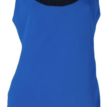 Ann Taylor Layered Tank Top (Blue)