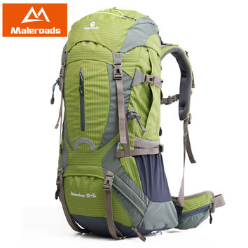 Maleroads High quality Professional Mountaineering climb backpack Trekking pack camp equipment hike gear 50L 60L for men women