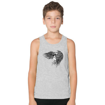 Indian With Eagle Kids Tank Top