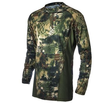 Military Camouflage Hunting Clothes Airsoft T-shirt Outdoor Sports Camping Hiking Surv
