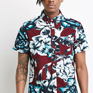 Oversized Tropical Floral Shirt