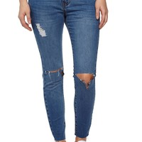 the ripped skinny 7/8 jean