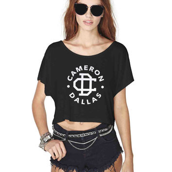 Cameron Dallas Logo Crop Shirt , Custom Crop Shirt , Woman Crop Shirt