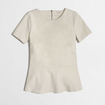 Factory ponte peplum top : short sleeve | J.Crew Factory