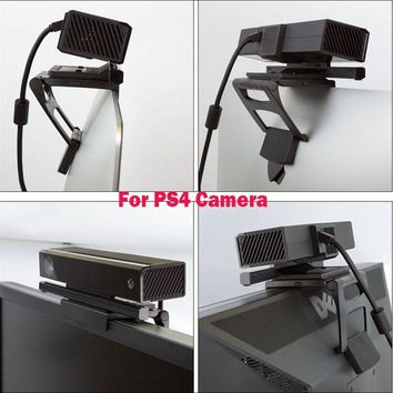 Adjustable TV Monitor Clip Mount Clamp Foldable Braket for Sony PlayStation 4 PS4 Move Eye Camera Sensor Stand Holder