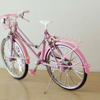 Retro girl's pink bicycle