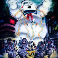 "Ghostbusters VS. Stay Puft Marshmallow Man Inspired Illustration 5 x 7"" Art-Print"