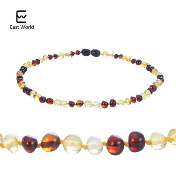 EAST WORLD New Design Amber Bracelet/Necklace Baltic Natural Amber Baby Jewelry for Boy Girls Infant Teething Gifts Suppliers